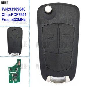Image 1 - WALKLEE llave remota apta para Opel/Vauxhall Opel Corsa D 2013 2018, Meriva B 2013 2019, para HUF 2007 CE para Delphi G1 AM433TX