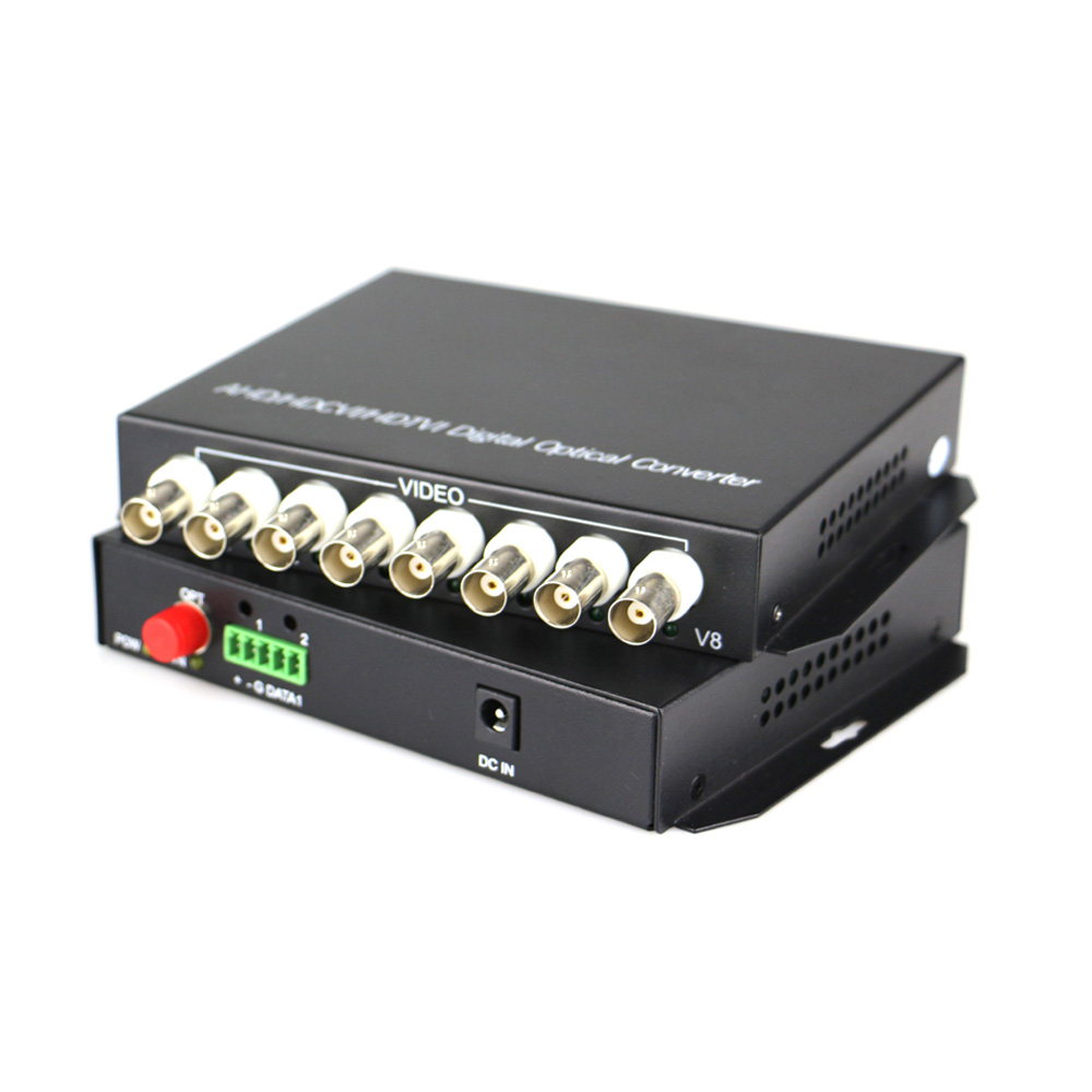 High Quality HD CVI 8 Channel Video Fiber Optical Converters Transmitter Receiver -For 720P 960P AHD CVI TVI HD Cameras CCTVHigh Quality HD CVI 8 Channel Video Fiber Optical Converters Transmitter Receiver -For 720P 960P AHD CVI TVI HD Cameras CCTV