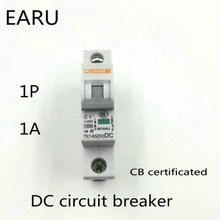 1P 1A DC 250V DC Circuit Breaker MCB for PV Solar Energy Photovoltaic System Battery C curve CB Certificated Din Rail Mounted