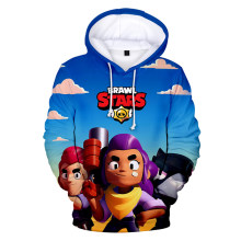 BRAWL STARS 3D Print Hoodie Young Female Solid Top Sweatshirt Brief Comfortable Hooded Preppy Style Oversized Hoodie(China)