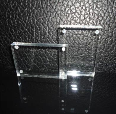 6 inch 10.2x15.2cm x2 crystal cosmetic acrylic price tag/ table card / station sign / information shelf /photo frame /