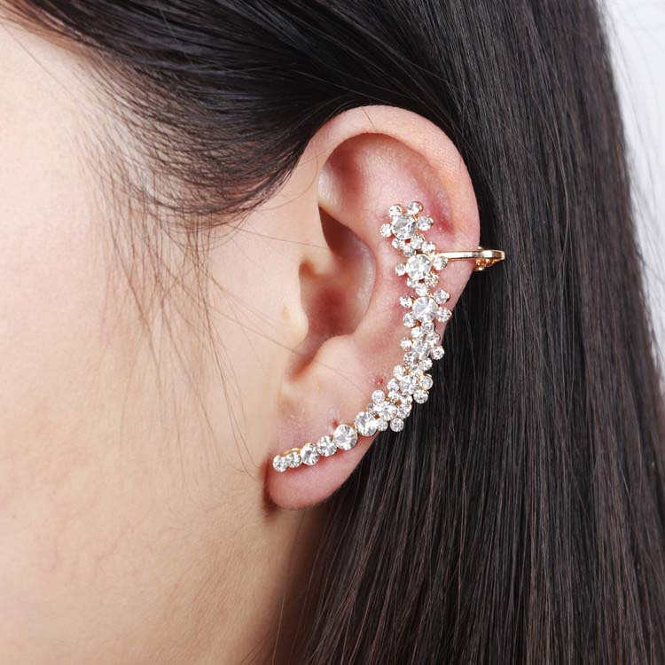 3pcs Or More Get 20 Off Full Crystal Flower Clip Earring Women S Whole In Earrings From Jewelry Accessories On