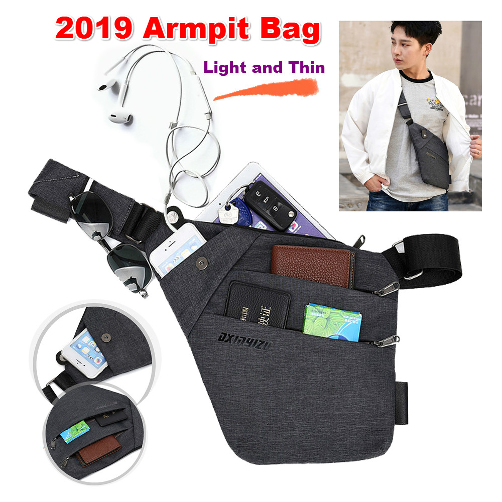 Armpit Phone Money Passport Wallet Pouch Anti-thief Hidden Waist Packs Underarm Shoulder Bag For Doogee S60 S70 S80 Lite