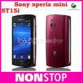 ST15i Original Sony Xperia mini ST15  Android GPS WIFI 5MP 3''TouchScreen Unlocked Cell Phone