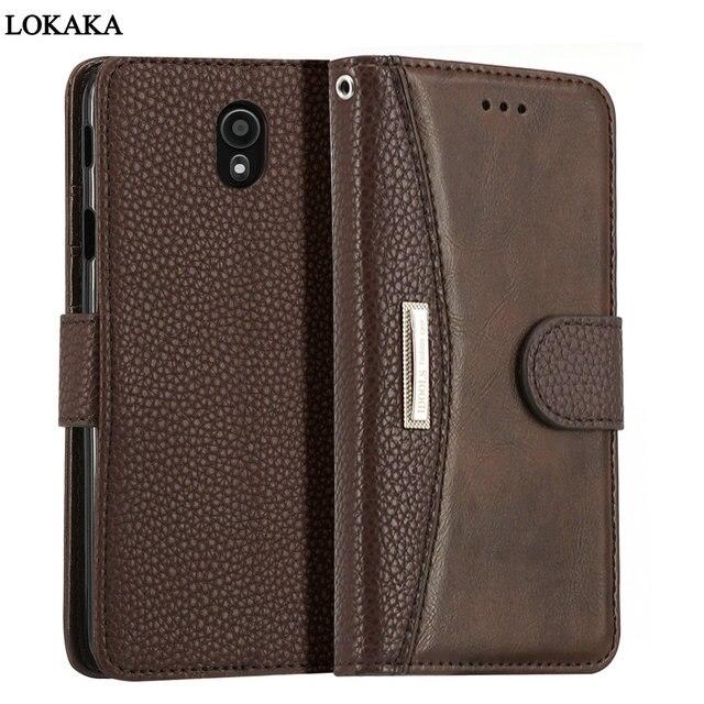 pretty nice 0c314 bfb86 US $10.99  LOKAKA For Samsung Galaxy J7 Pro Case Luxury PU Leather Wallet  Flip Card Holder 5.5