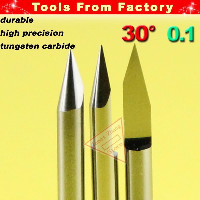 цена на 10pcs Carbide PCB 30 Deg 0.1mm V bits Engraving Bit Tungsten tools Engrave Wood Acrylic PVC Metal tool Diameter 3.175 # J3.3001