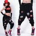 2014 Новая мода Марка Женщины Хип-хоп брюки танец носить спортивные штаны ds костюм свободные случайные женские брюки шаровары