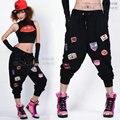 2014 Nova Marca de moda Das Mulheres do Hip hop calças moletom desgaste da dança traje ds soltas casual calças femininas harem pants