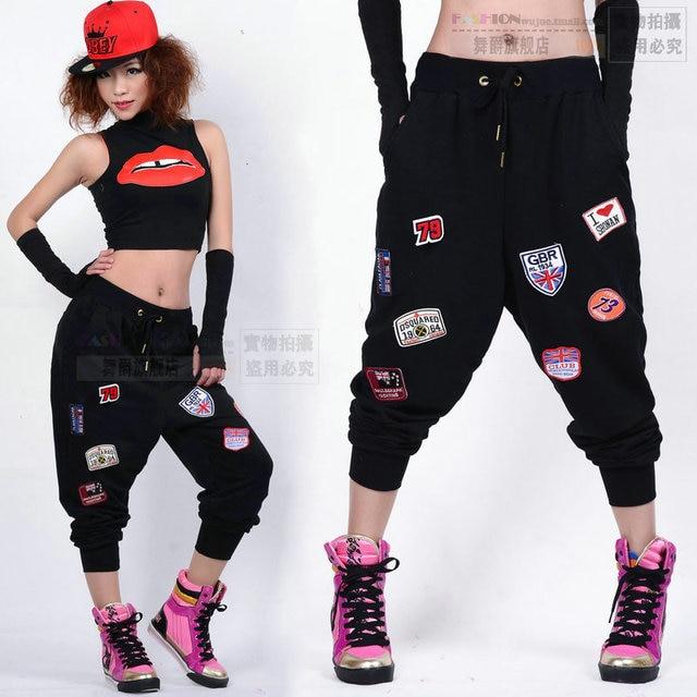 e744b7de70208 2014 nueva marca de moda para mujer Pantalones Hip hop Ropa de baile  pantalones de chándal