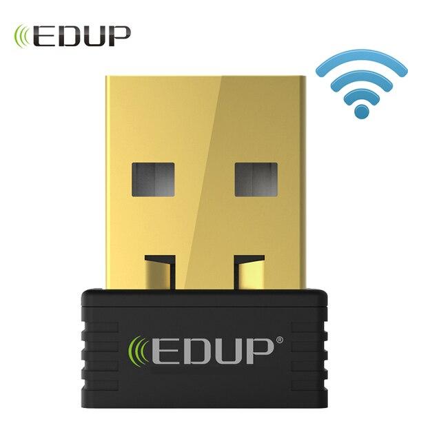 EDUP mini usb adaptador wifi inalámbrico 150 mbps receptor wifi 802.11n adaptador usb ethernet tarjeta de red compatible con Windows Mac para PC