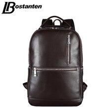 BOSTANTEN Designer Echtem Leder herren Rucksäcke Bolsa Mochila für Laptop Notebook Computer Taschen Männer Rucksack Schultasche Rucksack