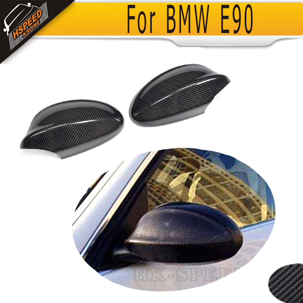 Carbon Fiber car side mirror cover for BMW 3 Series E90 Sedan 318i 320i 325i 328i 330i 335i xDrive 2005 - 2008 not fit M3 frame
