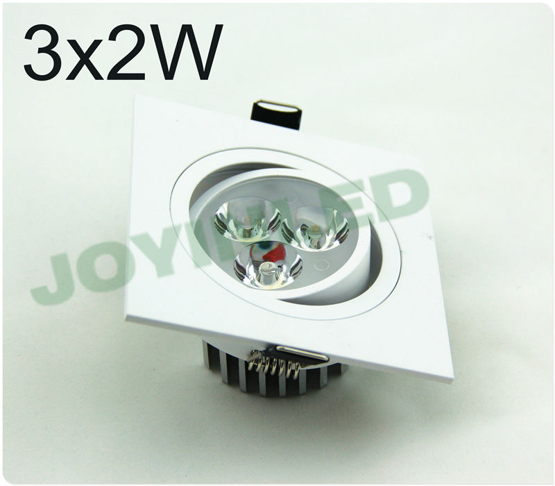 LED Spotlight 6W square dimmable led spot ceiling down light image