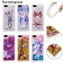 For Coque Huawei Honor 7A DUA-L22 5.45 case Dynamic Liquid Glitter Silicone cover sFor Fundas Y5 2018 Phone Cases