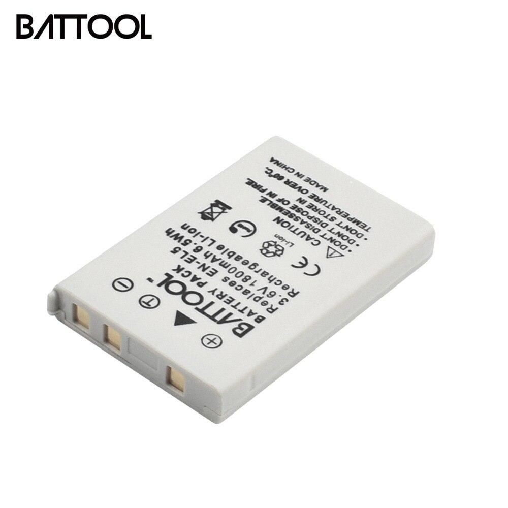 1X3.6 V 1800 mAh EN-EL5 EN EL5 ENEL5 Batterie pour Nikon Coolpix P4 P80 P90 P100 P500 P510 P520 P530 P5000 P5100 5200 7900 P60
