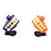 Orange or Purple Wind-up Toy Cute Vampire Ghosts Tooth with Eyes Walking Babbling Teeth Clockwork Toys Halloween Gift halloween chain clockwork toy ghost frankenstein vampire capsule funny joke prank wind up jumping walking toys kid gifts jm305