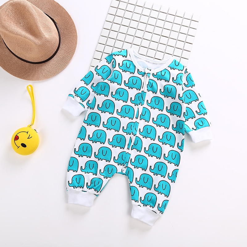 Blue Elephant baby cotton long sleeve rompers Lovely Banana yellow color Baby boy girl clothes bebe roupas baby bodykit jumpsuit