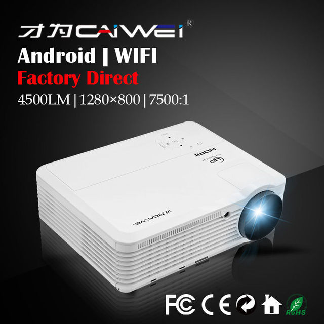 LCD Wireless Projector CAIWEI A7(A) HDMI Wifi USB TV Movie Android Wifi Home Theater Beamer Machine Multimedia LED 1080P