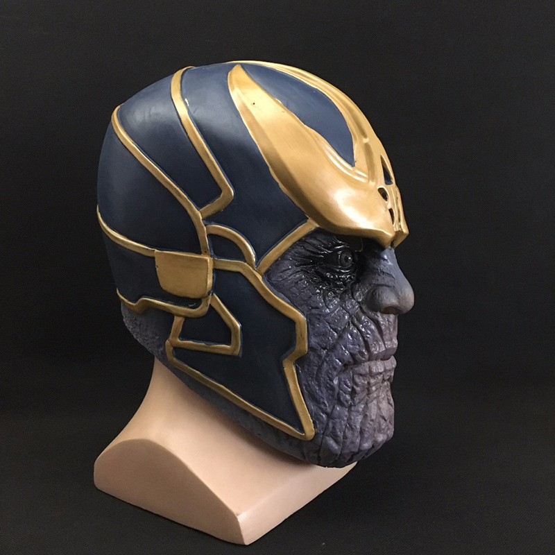 1pcs Marvel Avengers Thanos Mask Infinity War Cosplay Superhero Prop Hard Latex Helmet Halloween Toys Gifts For Kids Adults #e