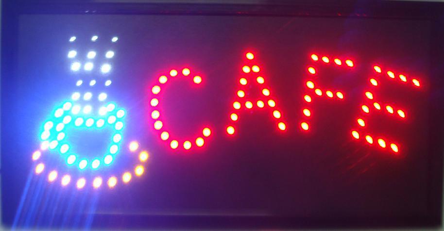 Cafe LED Sign