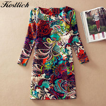 KPYTOMOA Boho Chic Summer Vintage Floral Print Buttons Midi Dress Women Beach Dresses