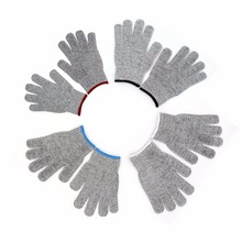 Household One Pair Set Durable Use Working Safety Gloves Cut Resistant Anti Abrasion Level 5 Kitchen