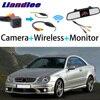 Liandlee 3in1 Wireless Receiver Monitor Dello Specchio Special Rear View Camera Per Mercedes Benz CLK Classe MB A209 C209 2002 ~ 2010 Fotocamera per auto    -