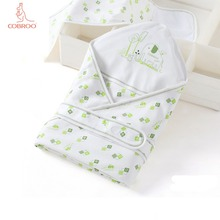 COBROO Baby Blanket Newborn Swaddle for Spring/Autumn/Winter with Cute Elephant Cotton Swaddling 0-6-12 Months