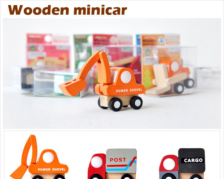 12pcslot Wooden Car Educational Toys Baby Kids Boy Toys Wheel Rotatable Cars Models Toys Simulate Mini Automobiles for Children (1)
