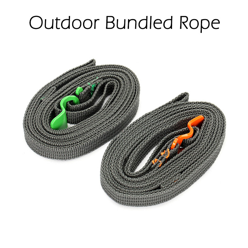 Outdoor Travel Equipment Tied  Bundle Rope Ultralight Multi-Function  Luggage Strap Stainless Steel Belt Hook For Camping Hiking [expensive] supply truck rather tight rope tensioner tied up with tight rope tied with wholesale