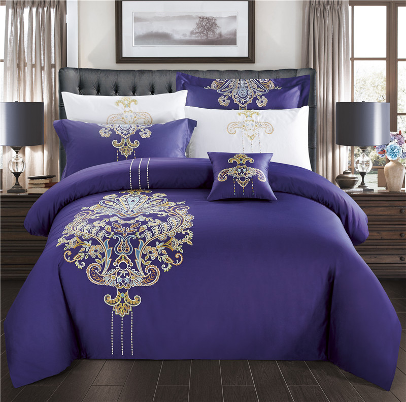 Excellent New Bedding Set Egyptian Cotton Bed Sheets Boho Duvet Cover Flat  Bedspread Sets Embroidery Juegos De Sabanas Wholesale With Wholesale  Egyptian ...
