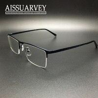 Fashion eyeglasses frame alloy half rim optical prescription eye wear man and women big designer 6008 black eye glass frame