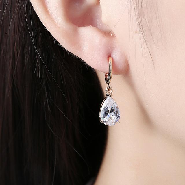 Chic Crystal Cubic Zircon Long Earrings for Women