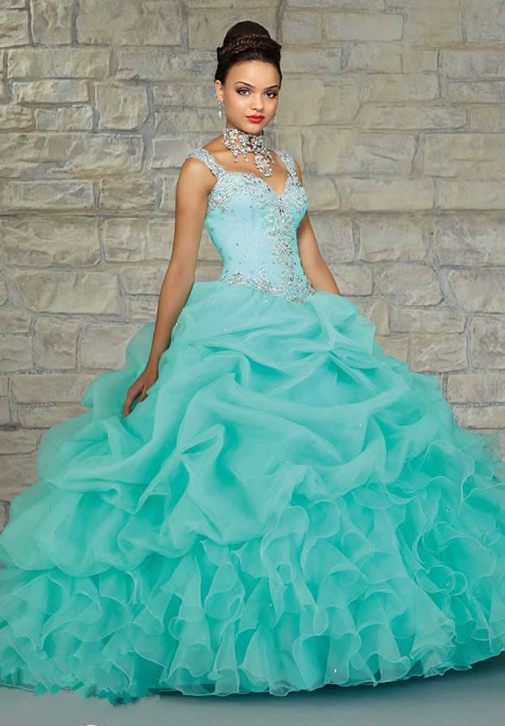 Peach colored quince dresses blue