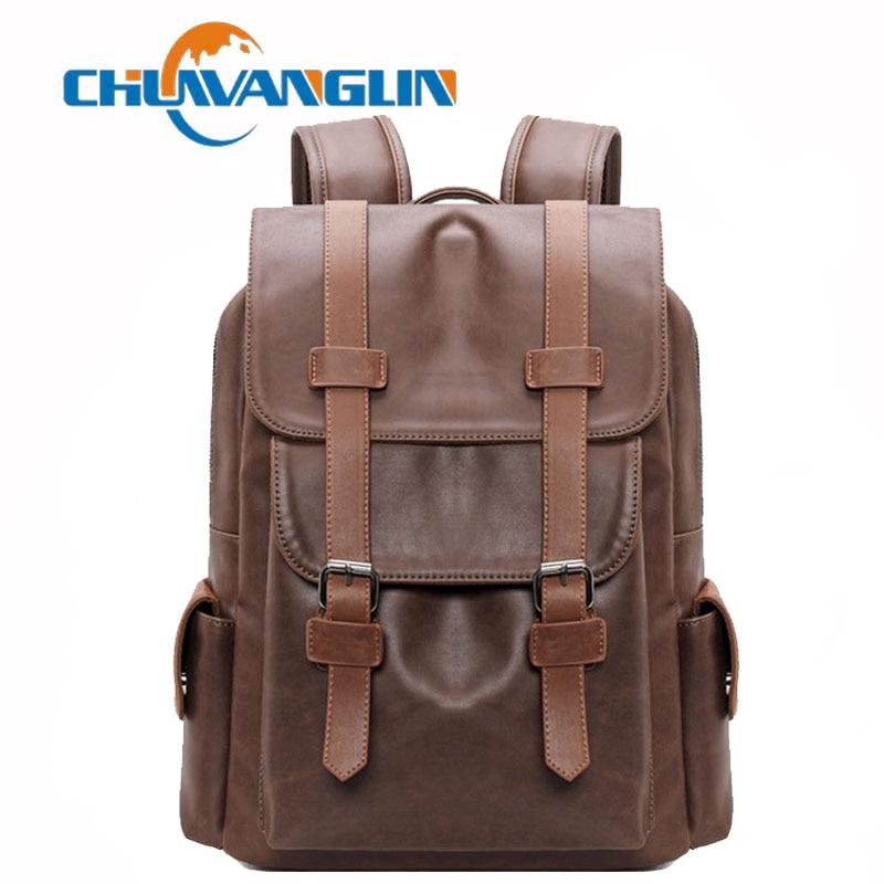 Herrentaschen Chuwanglin Vintage Leder Rucksack Männlichen Bookbag Hohe Qualität Männer Laptop Rucksäcke Einfache Mochila Hombre Mann Taschen Z1820 Gepäck & Taschen