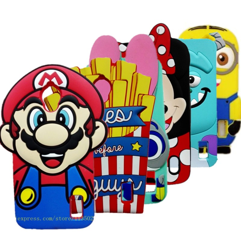 Huawei Y635 Cover 3D Super Marios Bros Cute design Soft Silicon Back Cover Case for Huawei Ascend Y635