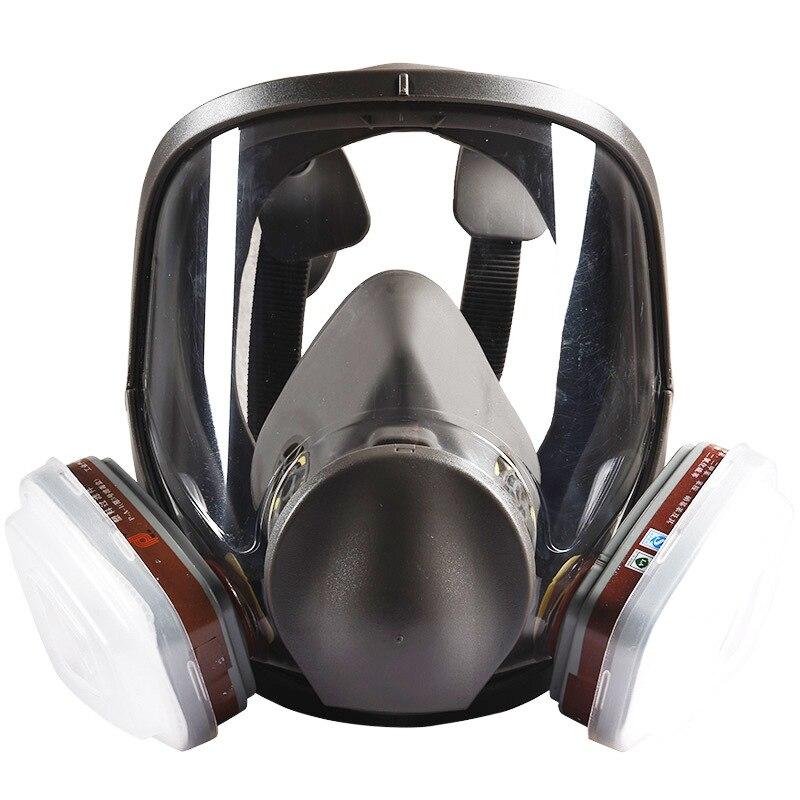 7 en 1 peinture pulvérisation sécurité respirateur masque à gaz même pour 6800 masque à gaz masque facial complet respirateur