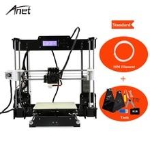 Анет Классическая DIY 3D-принтеры A8 Impresora 3d широкоформатной печати Размеры Prusa I3 с нить SD Card и установки инструменты 3D-принтеры