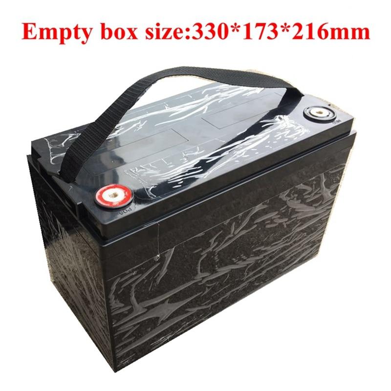 12V 24V 36V 48V 100Ah Customize Battery Pack Box for Build Battery Pack Black Box with