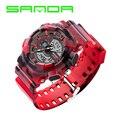 SANDA Reloj Deportivo Hombres Reloj Masculino del Cuarzo LED Digital Relojes de Los Hombres de Primeras Marcas de Lujo De Goma Digital de reloj Relogio masculino