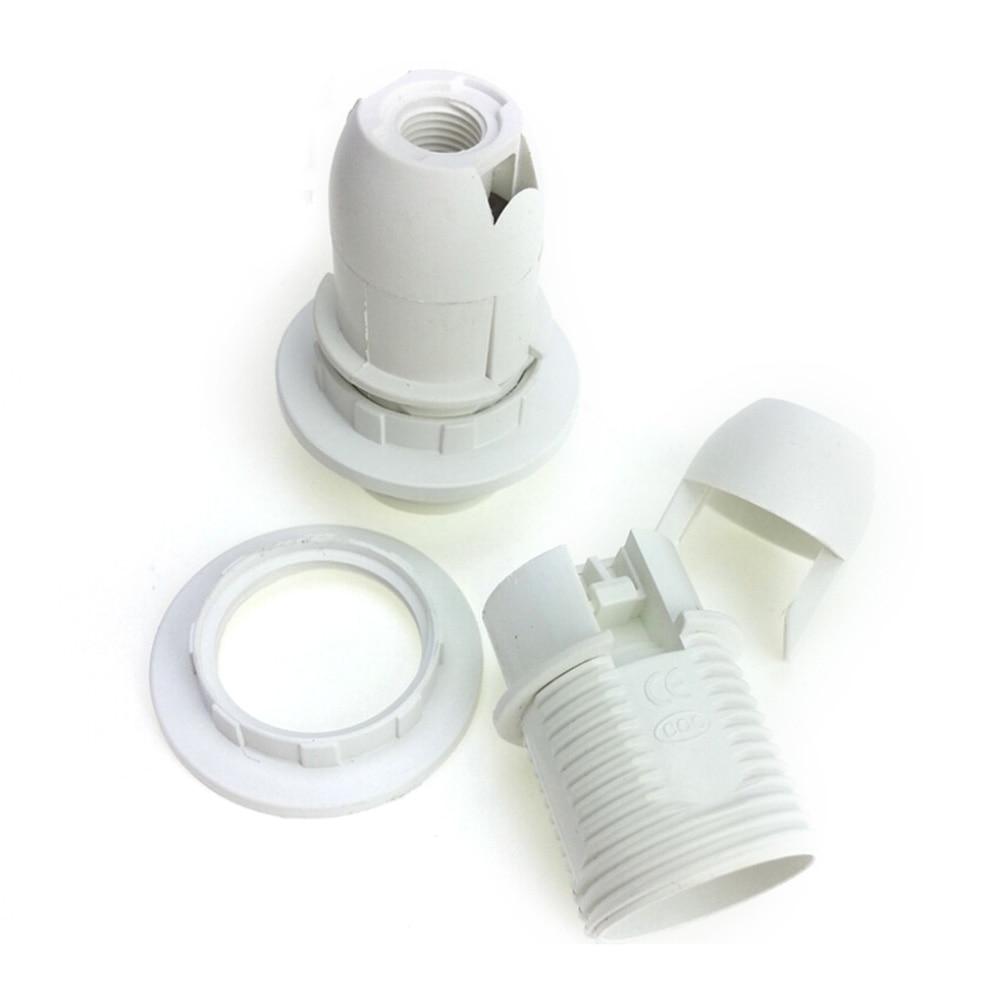 ES E14 M10 Light Bulb Lamp Holder Edison Screw Pendant Socket & Lampshade Collar