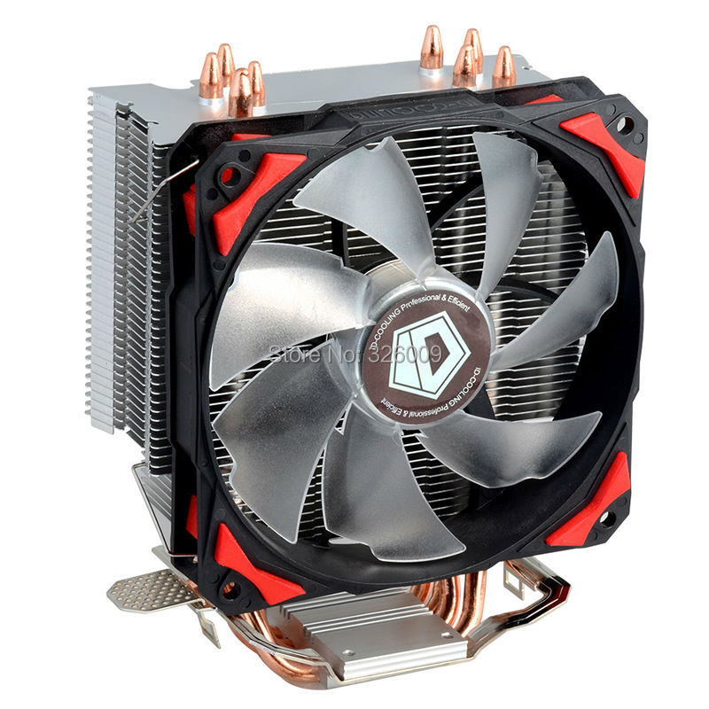 все цены на  4pin PWM 120mm CPU cooler fan 4 heatpipe TDP 130W cooling for LGA1151 775 115x FM2+ FM2 FM1 AM3+ CPU Radiator ID-Cooling SE-214  онлайн