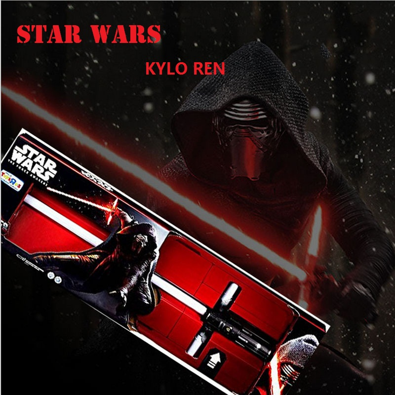 85CM Star Wars lightsaber KYLO REN red cross lightsaber Led  Light Sword Toys PVC Cosplay Weapons toys for boys christmas gift star wars boys black