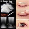 Unique fuerte en ángulo 3D de doble cara párpado Invisible cinta adhesiva cinta adhesiva fuerte pegatinas párpado herramienta de regalo 240 unids = 10 sheet