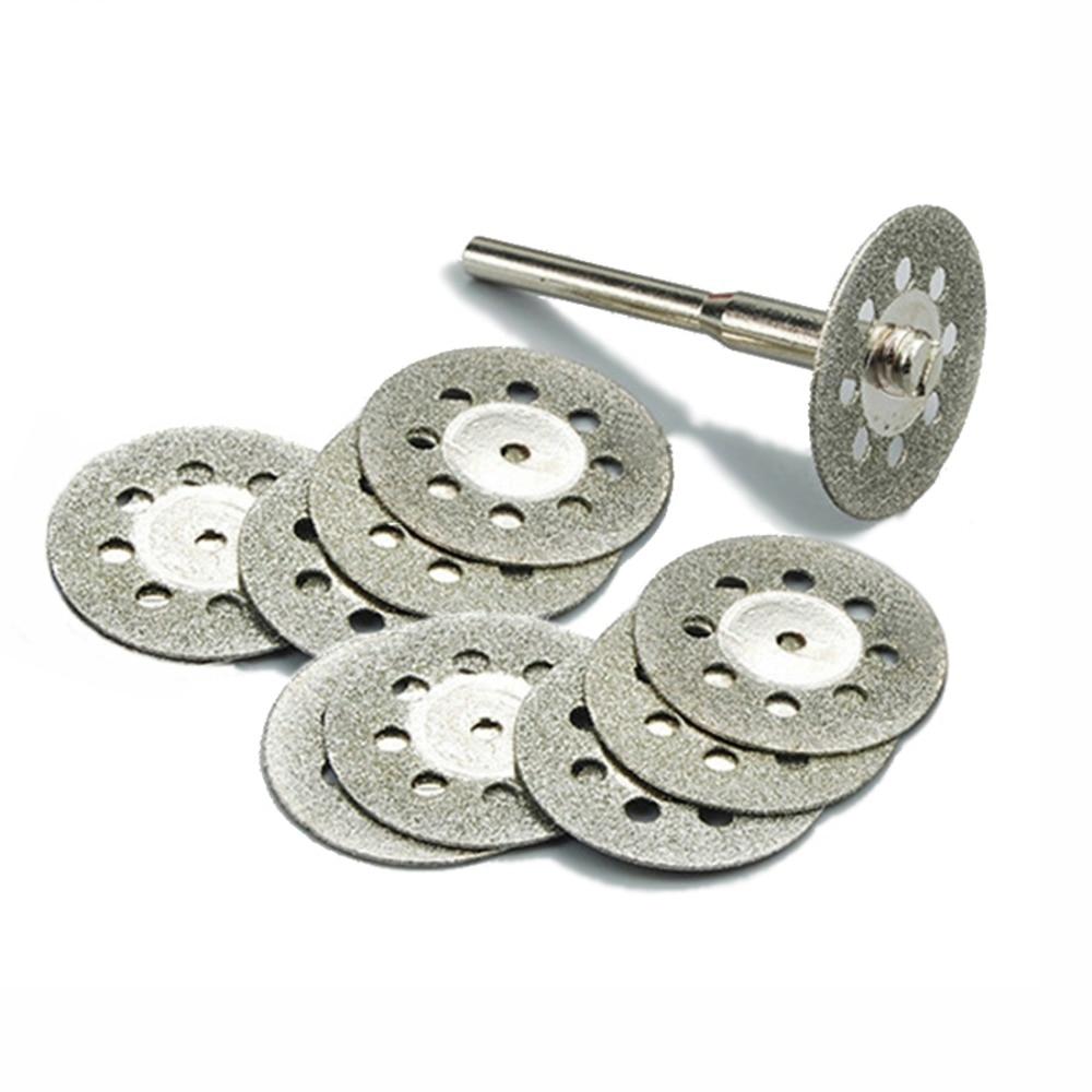 10pcs 22mm Diamond Cutting Discs Tool For Cutting Stone Cut Disc Abrasives Cutting Dremel Rotary Tool Accessories Dremel Cutter