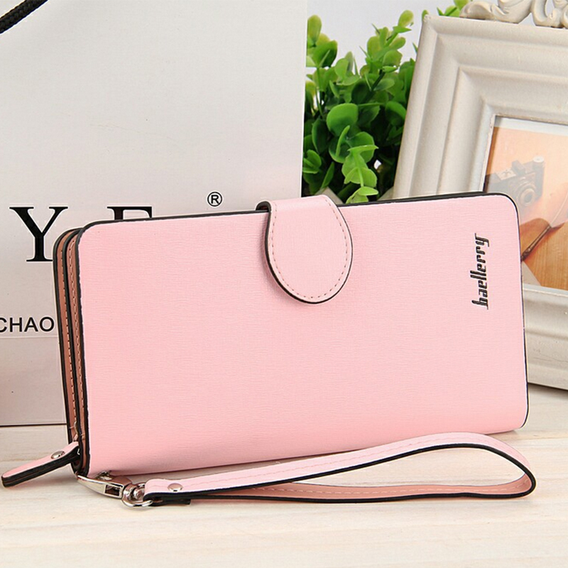Women Wallets Leather Long Coin Purses Female Card Holder Phone Zipper Pocket Money Bags Ladies Clutch Wallets ...