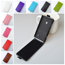 Fashion Flip PU Leather Case Full Protect Skin For Nokia Lumia 520 525 Vertical Magnetic Phone Bag J&R Brand 9 colors