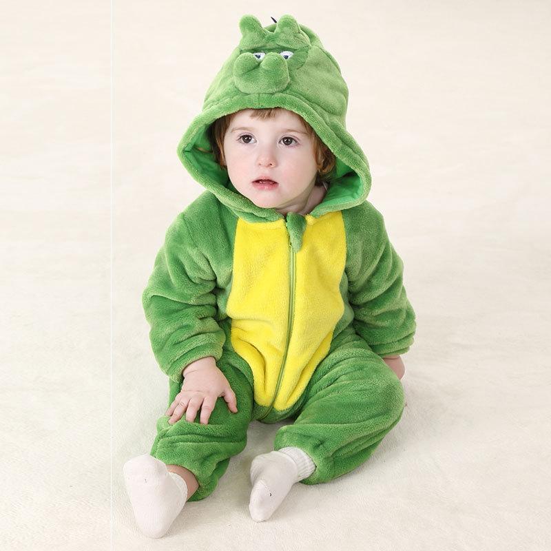 beb recin nacido del mameluco verde otoo ropa chicas ropa de invierno dinosaur mameluco infantil de