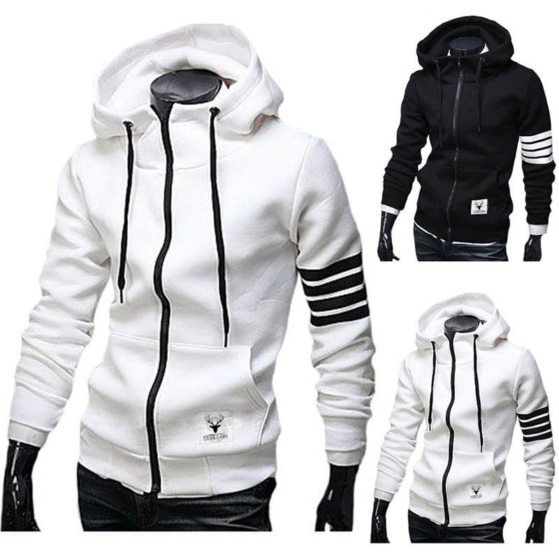 New Men's Warm Sports Casual Hoodie Cosplay Adult Casual Zip Hooded Jacket Baseball Suit Home Jacket