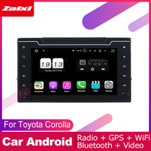 ZaiXi android car dvd gps multimedia player For Toyota Corolla 2016~2019 car dvd navigation radio video audio player Navi Map yessun car android player multimedia for toyota fj cruiser radio stereo gps map nav navi navigation no cd dvd 10 hd screen
